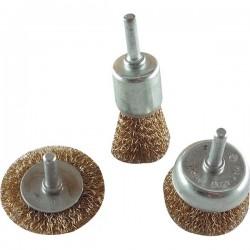 Drótcsiszoló fazék körkefe készlet (3részes)